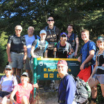 Active Adventures New Zealand group hiking the Kepler Track