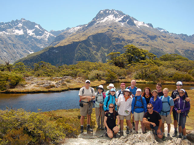An Active Adventures Group at Key Summit on the Routeburn Track