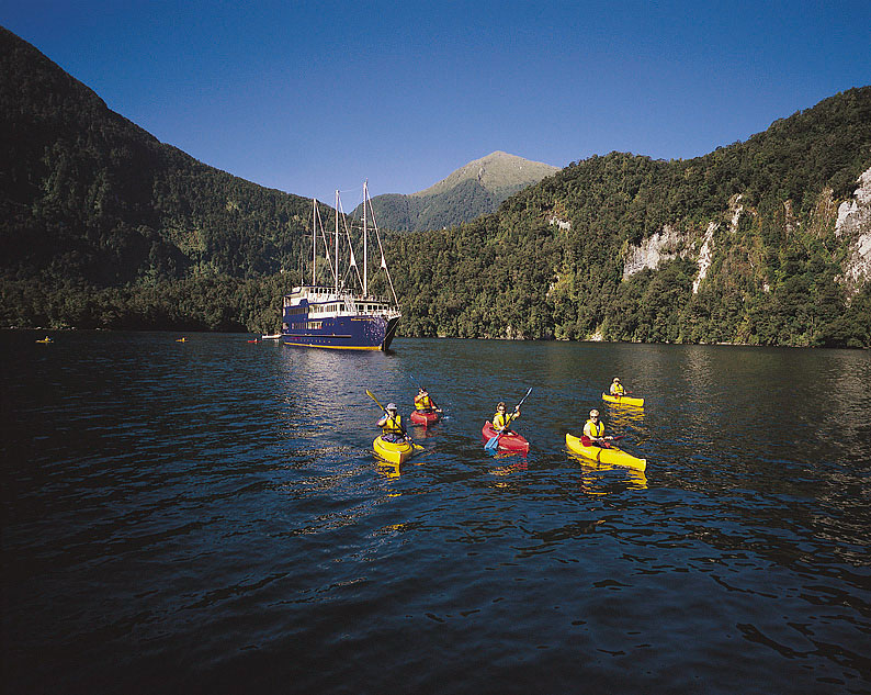 Kayaking Doubtful Sound