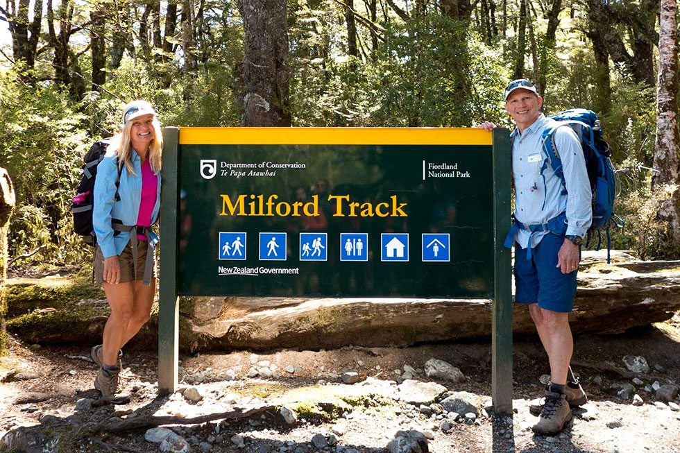 Milford Track Sign